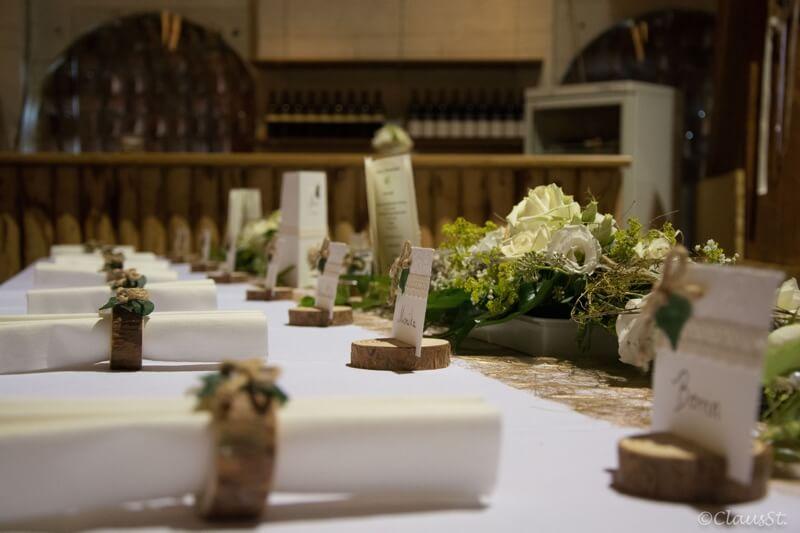 Hochzeitstafel eingedeckt